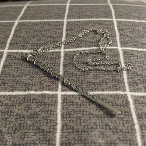 Silver Harry Potter Wand Necklace